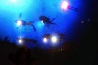 nightdiving-scuba diving crete chania